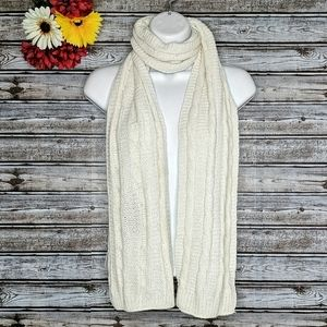 3/$15 • Cream Ultra Soft Ribbed Cable Knit Scarf